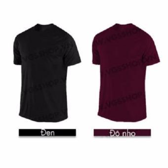 Bộ 2 áo thun LAKA A1012 (Đen + Đô nho)