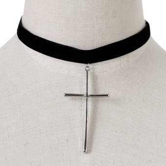 Necklaces Jewelry Necklace Chain all-match clavicle Cross Pendant Necklace collar accessories - intl