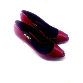 Giày cao gót hở mũi Mattino (Đỏ)