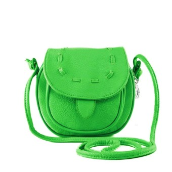 New Fashion Women Mini Shoulder Bag PU Leather Messenger Crossbody Bag Drawstring Handbag Lime Green (Intl)