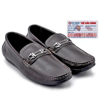 HL7113 - Giày mọi nam Huy Hoàng da bò màu nâu