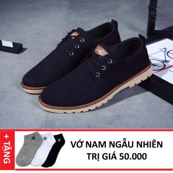 Giày Sneaker Da Thời Trang Nam Zapas GS035 (Đen) + Tặng Vớ Nam
