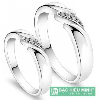 Nhẫn đôi Bạc Hiểu Minh nc355 nụ hôn nhẹ nhàng