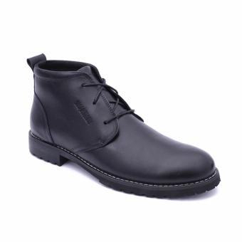 Giày da bốt cổ ngắn cho nam Smartmen SM-02 (Đen)