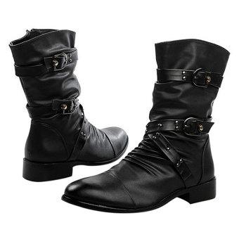 Giày bốt nam Family shop GN05 (Đen)