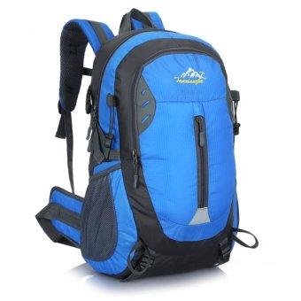 Unisex Outdoor Sports Hiking Cycling Backpack Multifunctional Waterproof Travel Climbing Bag- BLUE - intl