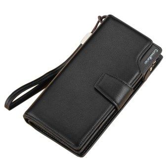Fashion Men Bifold Zipper Wallet Card Holers Purse Handbag - intl