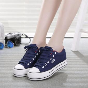Giày thể thao đế tăng chiều cao 5cm màu xanh đen TT109B
