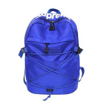 Leisure Nylon Braid Knitting Backpack (Blue) - intl