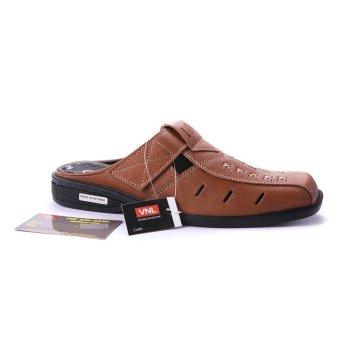 Giày bít sabo nam da thật cao cấp chính hãng Da Giày Việt Nam VNLMO0LM04N ( Nâu )