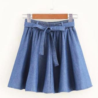 Chân váy ngắn nữ dáng xoè xếp li thắt dây nơ LTTA168