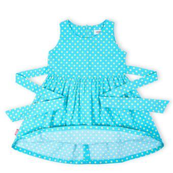 Đầm bé gái Oiwai 68-4082-412 GRN (xanh biển)