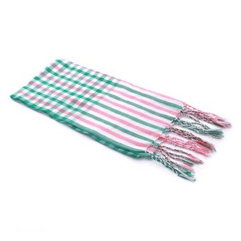 Khăn rằn thời trang Green Stripe Scarf (Xanh lá)
