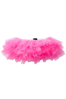 9 Layers Sexy Women Ballerina Tutu Skirt Dress Petticoat Dance Rave Neon Party Halloween Decorations Costumes Rose - Intl