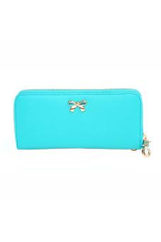Bowknot Purse Wallet Handbag Light (Blue) - intl