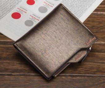 PU Leather Wallet Men Wallets Vintage Organizer Purse Billfold Zipper Coin Pocket, Brown - intl