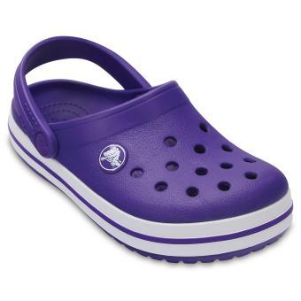 Xăng đan bé trai Crocs - 204537-50L - Crocband Clog K UV/Whi (Tím)