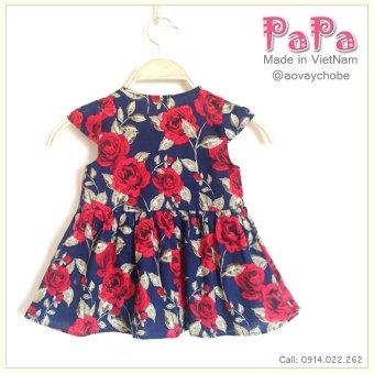 Đầm Thô Cổ Tròn Hoa Hồng Papa Fashion