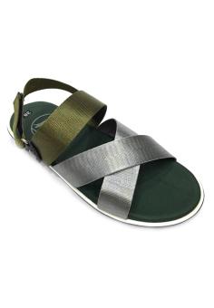 Giày Sandal 3 quai chéo xám phối rêu Everest E112 D03