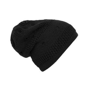 VAKIND Winter Unisex Knit Hat Ski Sport Hat Black (Intl)