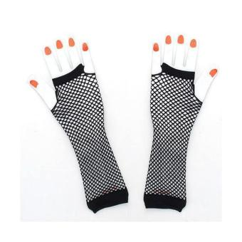 BolehDeals 1 Pair Hens Night Party Bride To Be Black Ladies Fingerless Fishnet Gloves - Intl