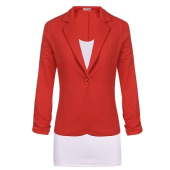 Cyber Meaneor Women Fashion Casual Work Solid Candy Color Blazer - Intl
