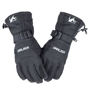 Men Winter Waterproof Snow Motorcycle Snowmobile Snowboard Gloves Black - Intl