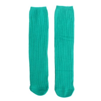Children Baby Kids Boy Girls Knee High Warmer Socks Cotton Long Stockings Fashion Green NEW - intl