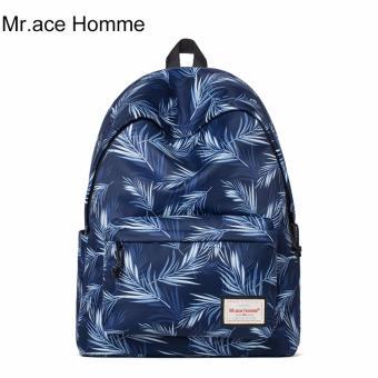 Balo Thời Trang Mr.ace Homme MR16B0320B01 / Xanh đen phối họa tiết