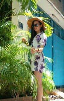 Jumpsuit hoa Xavia Clothes Nivan (Trắng)