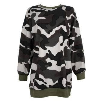 Fashion Women Camouflage Hoodie Jacket Long Sleeve Sweatshirt - intl
