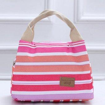 Picnic Lunch Box Bag Dining Travel Purse Zipper Handbag Women Kids - intl