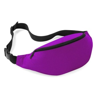 Unisex Bag Travel Handy Hiking Sport Fanny Pack Waist Belt Zip Pouch Purple - intl