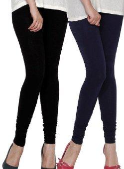 Bộ 2 quần legging nữ Navi (đen-Xanh đen)