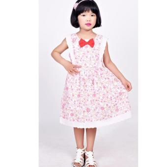 Đầm Linen bông hồng Somy Kids