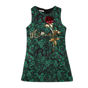 New Girls Rose Flower Dress - intl