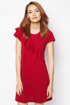 Đầm suông A Nhún bèo xéo Cirino (Đỏ)