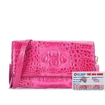 HL6260 - Túi đeo nữ da cá sấu Huy Hoàng màu hồng