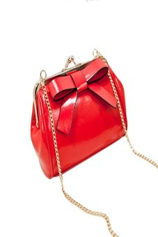 HKS Candy Color Mini Bag Small Shoulder Bags With Chain Bag Messenger Bags Red - intl
