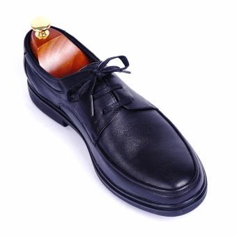 Giày tây nam da thật cao cấp buộc dây Da Giày Việt Nam - VNLMT24LA4D-1 (Đen)