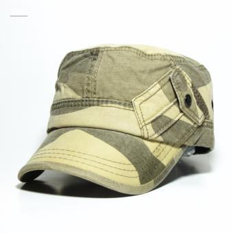 Nón kết kaki phối túi ARMY2 (màu kem)