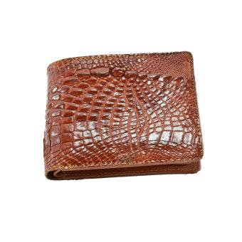 Ví nam cá sấu bàn tay Gia Huy GH-S102-3 (nâu đỏ)