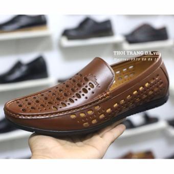 Giày da bò đục lỗ GL93 (Nâu) thoáng khí cung cấp bởi THỜI TRANG DA