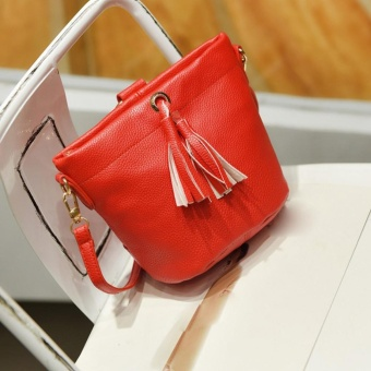 Fashion Women Mobile Handbag Buns Bag Bucket Bag Shoulder Messenger Bag RD - intl