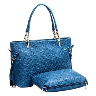 Bộ 3 túi xách da Family Shop TCC06 (Xanh)