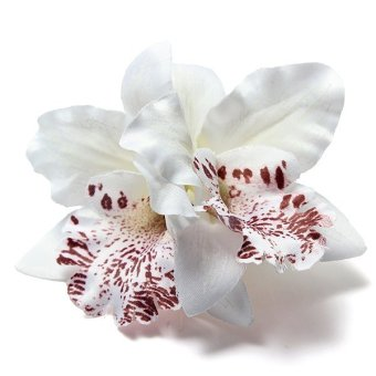 Women Bridal Wedding Hair Clip Barrette Orchid Floral Flower Hairpin Accessories - intl