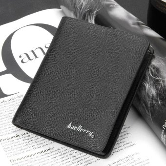 PU Leather Men Business Wallet Short Coin Purse with Pocket Male Card Holder - intl