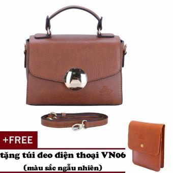 Túi đeo chéo nữ đa năng LATA HN33 (Bò đậm)+ Tặng ví vn06