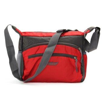 Unisex Women Men Travel Luggage Suitcase Sports Nylon Gym Tote Bag Handbag HOT Red - intl