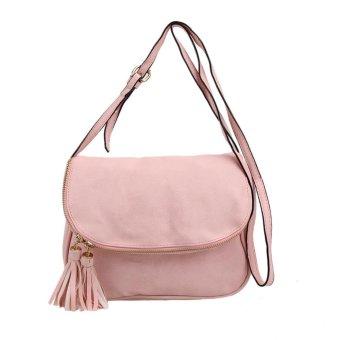 PU Leather Women Tassel Messenger Bag Fashion Handbag Shoulder Crossbody Backpack - intl